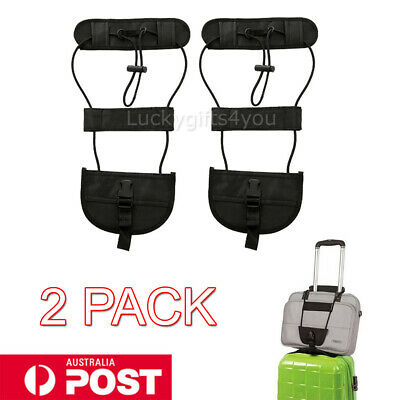2X Travel Luggage Suitcase Adjustable Tape Belt Add A Bag Strap Carry Bungee AU