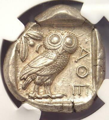 Ancient Athens Greece Athena Owl Tetradrachm Coin (440-404 BC) - NGC Choice XF!