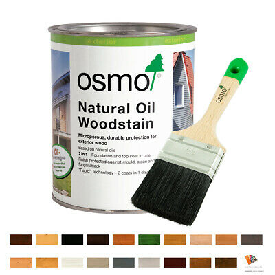 OSMO Natural Oil Woodstain ALL COLOURS  Exterior Finish & Wood Protection 0.75L