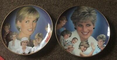 Pair Of Compton & Woodhouse Princess Diana Plates Perfect Condition Cg
