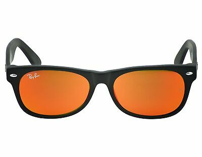 Ray-Ban RB2132 NEW WAYFARER FLASH 622/69 Black, Orange Flash Unisex Sunglasses