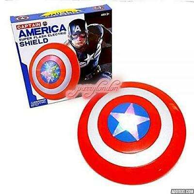 Large Captain America Shield The Avengers Marvel flashing light and music gift 1