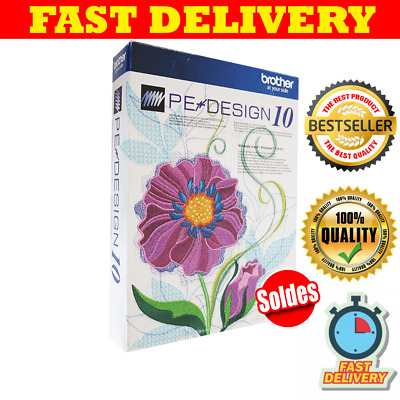 Brother PE Design 10 Embroidery Full Software PLUS ACTIVATOR & FAST DELIVERY 20s