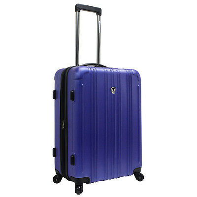 """Traveler's Choice Blue Luxembourg 25"""" Lightweight Expandable Spinner Luggage Bag"""