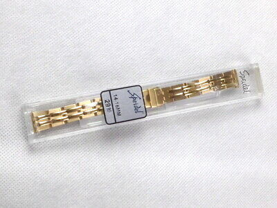 Mens Speidel 14-16Mm Yellow Gold Tone Link Watch Band!