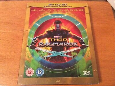 Thor ragnarok 3D Blu ray. With slipcover. New & sealed.