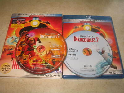 Incredibles 2 (Blu-ray, 2018, 2-Disc Set) - Eng/Fr/Sp **NO DVD**NO DIG**READ**