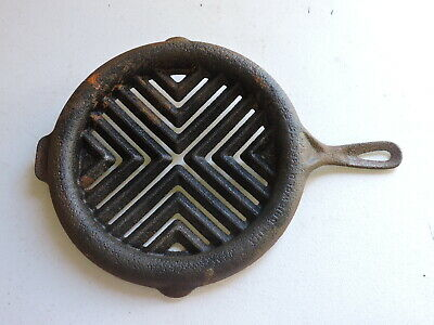 Antique Griswold Double Broiler, Cooking Skillet, Cast Iron, (VE)