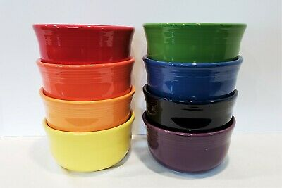 Fiesta Dinnerware Fiestaware New 2nds, Lot of 8 Gusto Soup Bowls,Mixed Color Set