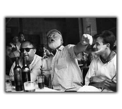 "Ernest Hemingway photo at the bar Glossy Photo ""4 x 6"" inch F"