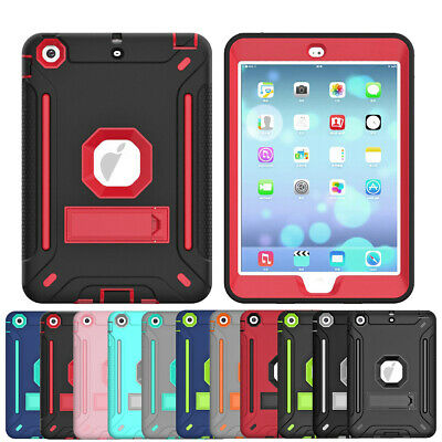 For Apple iPad Mini 1 2 3 4 5 Hybrid Shockproof Stand Military Tablet Case Cover