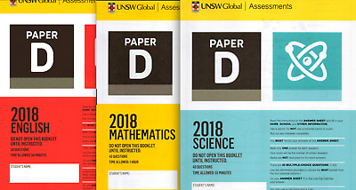 2018 ICAS Paper D Year 6 with 2018 English Maths Science DT Spelling Writing