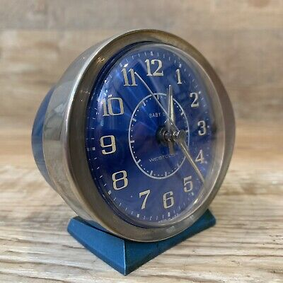 Vintage Westclox Blue Baby Ben Alarm Clock Model  #11066 Made in the USA