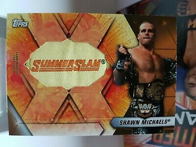2019 Topps WWE SummerSlam Manufactured Logo Relics #SLR-SM Shawn Michaels 07/99