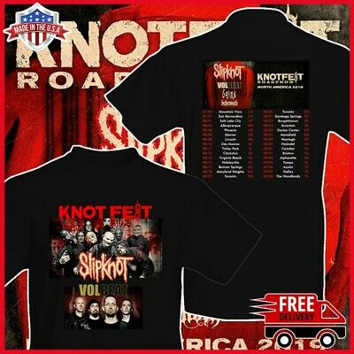 Slipknot And Volbeat Knotfest Roadshow 2019 Tour T-Shirt Size Men Size S-6XL