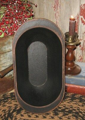 Wood Dough/Candle BOWL*BLACK*Primitive Home/French Country Farmhouse Decor