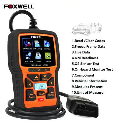USA Shipping Foxwell NT301 OBD2 Engine Check Code Reader Scanner Diagnostic Tool