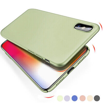 Ultra-thin Frosted Hard Case Simple Color Cover For iPhone XS Max XR 8 Plus 7 6s