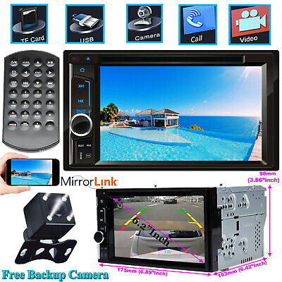 """For Sony Lens Bluetooth 6.2""""Car Stereo DVD CD Player Radio SD/USB In-Dash+Camera"""