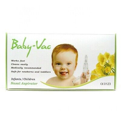 Baby-Vac Nasal Aspirator For Infants / Children Snotty Noses Removes Mucous