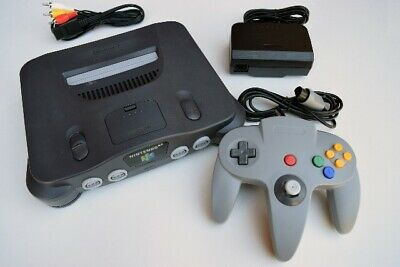 Nintendo 64 Console ( NTSC)  + 1 OEM Controller & Cords +1 Free Game! N64