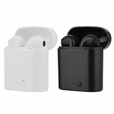 Coppia Auricolari Bluetooth Cuffie Android Sport Wireless Senza Fili Micphone Eu