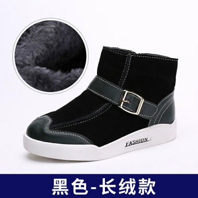 Kids boys fleece boot winter shoes leather boots shoes girls boots warm fashion
