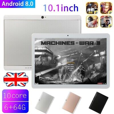 """10.1"""" Tablet PC 6G+64G 10 Core Android 8.1 Dual SIM&Camera Wifi Phone Phablet UK"""