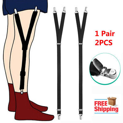 Pair Y Style Shirt Stays Mens Garters Suspenders Military Uniform Holder Sock