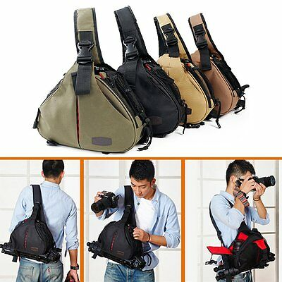 Shockproof Camera Backpack Sling Shoulder Bag Case DSLR SLR for Canon Nikon Sony