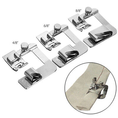 3x Domestic Sewing Machine Foot Presser Rolled Hem Feet For Brother Singer us
