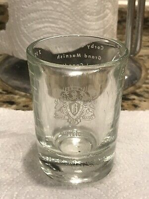 "Barclay's Royal Canadian 3"" Large Heavy Bottom Shot Glass-holds 2.5oz"