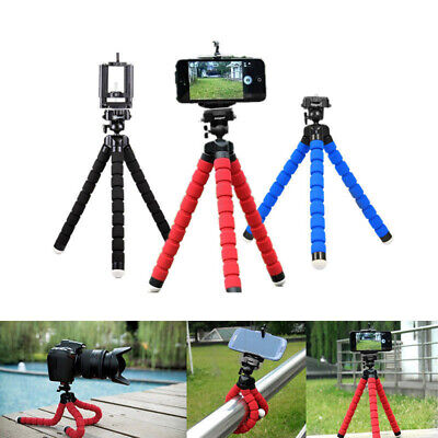 Mini Portable Flexible Sponge Octopus Tripod Stand Mount With Holder For Phone