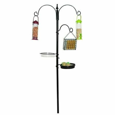 Bird Feeding Station Wild Birds In Garden Coated Steel Sturdy Durable No Tools
