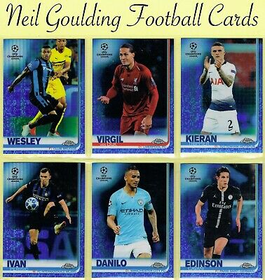 Champions League CHROME 2018-2019 ☆ BLUE PARALLEL ☆ Football Cards #/150