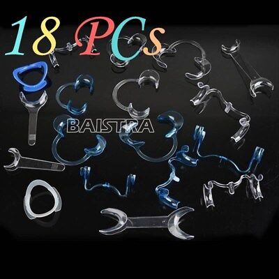 HOT 18 PCs Dental Plastic Intraoral Cheek Lip Retractor Mouth Opener All Type V
