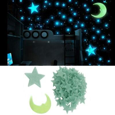 100x Glow In The Dark Stars Wall Sticker Kid Nursery Room Bedroom Ceiling Decor.
