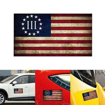 13 Star Colonial American Flag sticker decal America 1776 patriot Betsy Ross