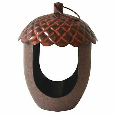 Acorn Bird Feeder Attract Wild Birds Easy to Build Metal Drainage holes Garden