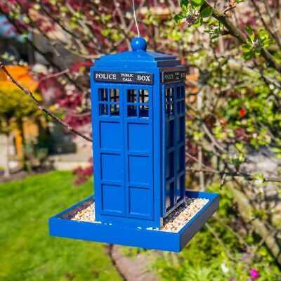 Police Box Bird Feeder Holds 2 Pounds of Bird Seed Doctor Who Wild Birds Garden