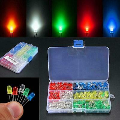 200Pcs 3mm 5mm LED Light White Yellow Red Blue Green Diodes Kit 2019 Assort X5K5