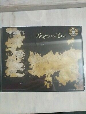 Geek Gear Exclusive Game Of Thrones Westeros and Essos Map. Framed 8x10
