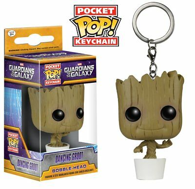 Funko Pocket Pop Keychain Marvel Guardians Of The Galaxy Dancing Groot Figure UK