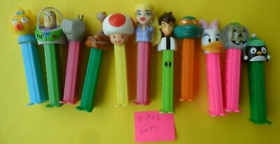 11 Mixed Pez Dispensers In Good Condition Dates Unknown Tracking Post Lot 1