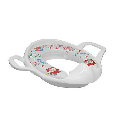 Baby Potty White Training Support Padded Seat Toddler Toilet Training Seat