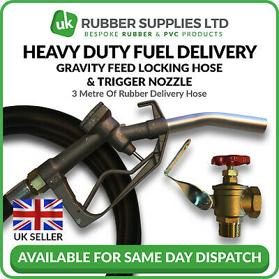 Gravity Feed Diesel Kit - Locking Hose Fuel Delivery Heavy Duty Trigger Nozzle