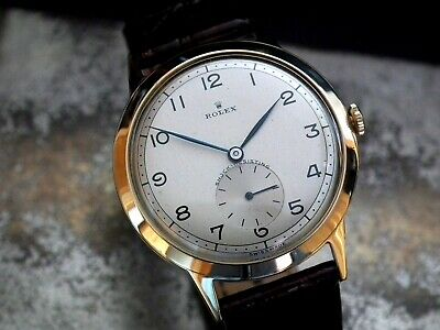 Stunning 1951 Oversize (36mm) Solid 9ct Gold Rolex Precision Gents Vintage Watch