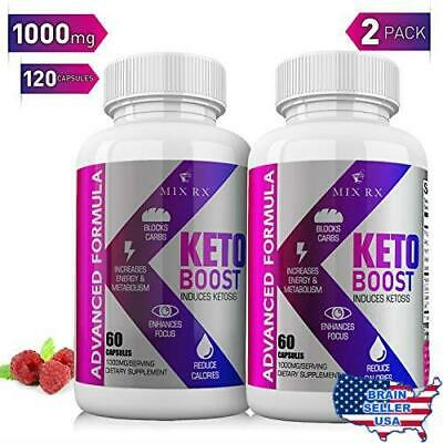 (2 Pack   120 Capsules) Best Keto Diet Pills with Carb Supplement -