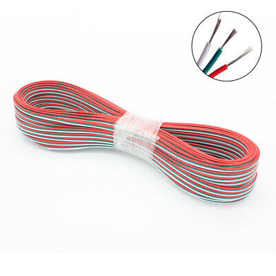 1m-100m 3 Pin RGB LED Light Strip Extension Wire Cable Connector WS2811 WS2812B