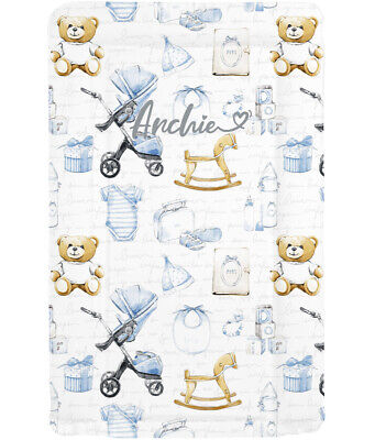 Vintage Design Nursery Baby Changing Mat - Girls or Boys - Can Be Personalised